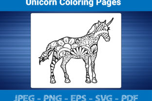 Print on Demand: Unicorn Coloring Pages - KDP Interior Graphic Coloring Pages & Books Adults By bengalcanvas