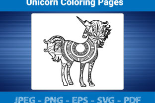 Print on Demand: Unicorn - Coloring Pages for Adult Graphic Coloring Pages & Books Adults By bengalcanvas