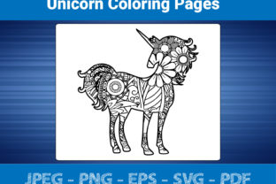 Print on Demand: Unicorn Coloring Pages Graphic Coloring Pages & Books Adults By bengalcanvas