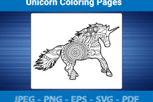Print on Demand: Unicorn Coloring Pages for Adult Graphic Coloring Pages & Books Adults By bengalcanvas