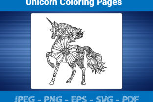 Print on Demand: Unicorn Coloring Pages for Adult KDP Graphic Coloring Pages & Books Adults By bengalcanvas