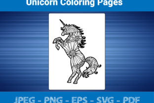 Print on Demand: Unicorn Mandala Coloring Pages Graphic Coloring Pages & Books Adults By bengalcanvas