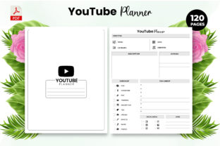 Print on Demand: YouTube Planner - KDP Interior Template Graphic KDP Interiors By Design invention