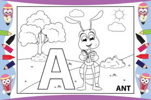 Print on Demand: Coloring Animal from a - Z for Kids Graphic Coloring Pages & Books Kids By curutdesign