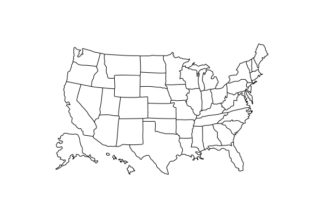Customisable Map of the US U.S.A. Craft Cut File By Creative Fabrica Crafts