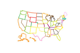 Customizable Map of the US U.S.A. Craft Cut File By Creative Fabrica Crafts