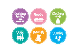 Kids Toys Labels Kids Craft Cut File By Creative Fabrica Crafts
