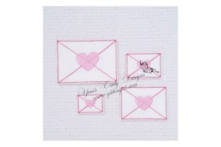 Envelope Heart Valentine's Day Embroidery Design By Yours Truly Designs