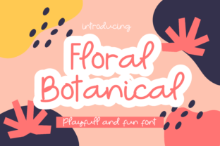 Print on Demand: Floral Botanical Script & Handwritten Font By Ongtype co.