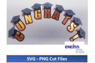 Graduation Banner SVG   Congrats Banner Graphic 3D SVG By Cheiss Designs