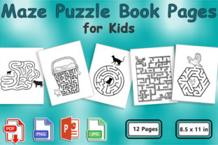 Maze Puzzle Book Pages for Kids Graphic KDP Interiors By ishop