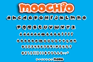 Print on Demand: Moochio Display Font By Brothergrounds 8