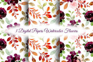 Print on Demand: Seamless Pattern Floral Watercolor 145 Graphic Patterns By asrulaqroni
