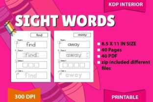 Sight Words Tracing: Pre-K Beg Graphic Teaching Materials By magicCreative