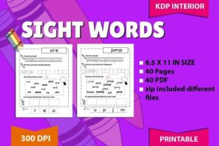 Sight Words Tracing: Pre-Kids Graphic Teaching Materials By magicCreative 1
