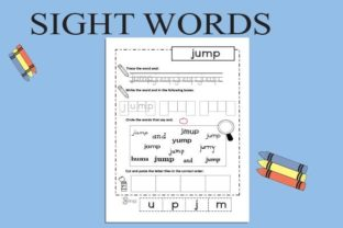 Sight Words Tracing: Pre-Kids Graphic Teaching Materials By magicCreative 2