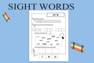 Sight Words Tracing: Pre-Kids Graphic Teaching Materials By magicCreative 3