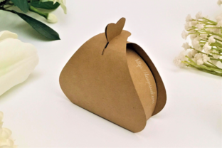 Print on Demand: Tear Drop Shaped Candy Holder Box Graphic 3D SVG By DESIGNS NOOK