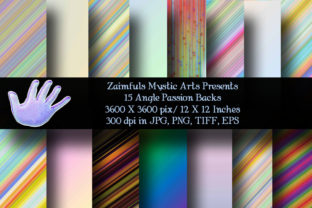 Print on Demand: 15 Angle Passion Backs Graphic Backgrounds By Zaimfuls Mystic Arts