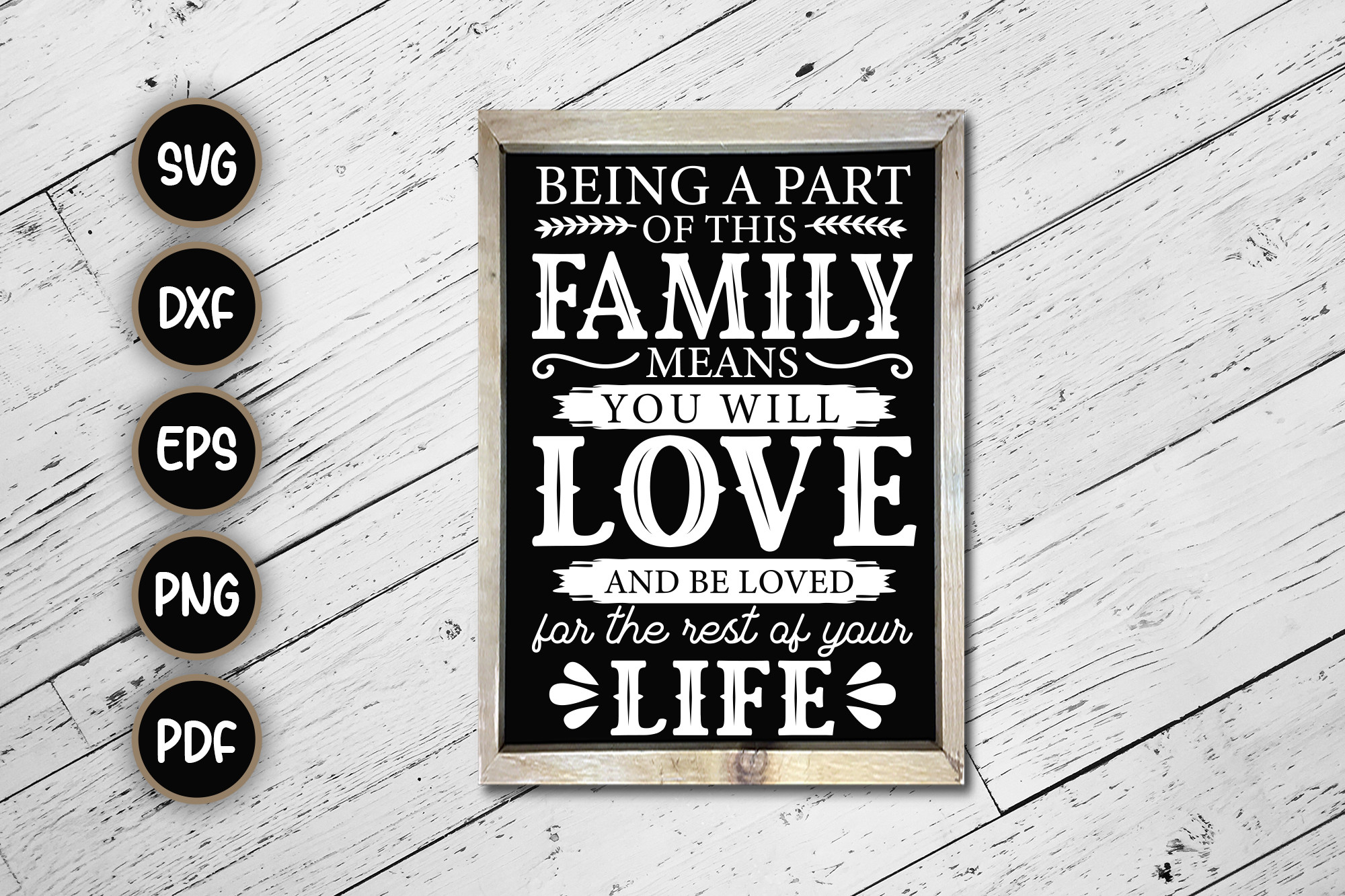 Being a Part of This Family Sign... SVG File