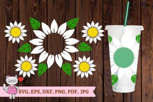 Daisy Starbucks Cup Svg Graphic Patterns By  Magic world of design
