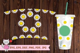 Daisy Starbucks Cup Svg Graphic Textures By  Magic world of design