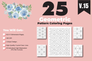 Print on Demand: Geometric Pattern Color Pages for Design Graphic Coloring Pages & Books Adults By ivect 1