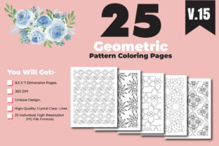 Print on Demand: Geometric Pattern Color Pages for Design Graphic Coloring Pages & Books Adults By ivect 3