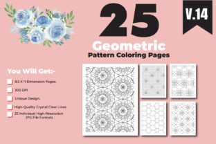 Print on Demand: Geometrical Pattern Coloring Page Design Graphic Coloring Pages & Books Adults By ivect 1