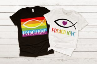 LGBT Preach Love Jesus Fish SVG Graphic Crafts By RisaRocksIt