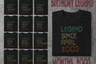 Print on Demand: Legend Since January – December 2003 Graphic Crafts By ArtPrintables Designs
