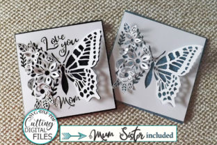Pop Up Floral Butterfly Mothers Day Svg Graphic Crafts By Cornelia 1