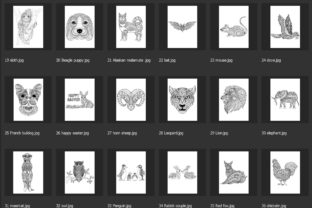 150 Animals for Adult Coloring Book - 3