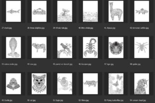 150 Animals for Adult Coloring Book - 4