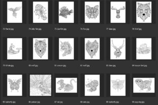 150 Animals for Adult Coloring Book Graphic Coloring Pages & Books Adults By somjaicindy 6