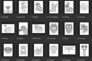 150 Animals for Adult Coloring Book Graphic Coloring Pages & Books Adults By somjaicindy 8