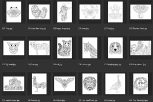 150 Animals for Adult Coloring Book Graphic Coloring Pages & Books Adults By somjaicindy 9