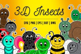 3D Layered Insects SVG Bundle Graphic 3D SVG By SvgOcean