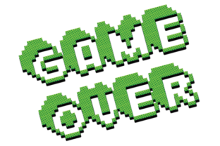 Print on Demand: Game over Design Graphic 3d Text Graphic 3D SVG By Hiumorfaruk0909