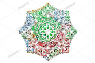 Print on Demand: Mandala Flower Colorful Water Raindrops Graphic Illustrations By Chiplanay