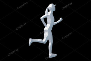 Print on Demand: Runner Sports Girl White Statue Stone Graphic Illustrations By Chiplanay