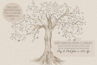 Print on Demand: Family Tree Clipart Graphic Illustrations By CommercialCliparts