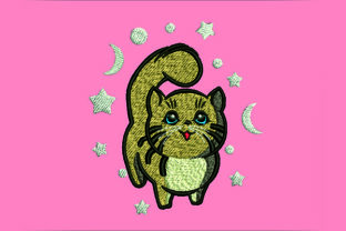 Print on Demand: Baby Cat Cute Face Cats Embroidery Design By Samsul Huda