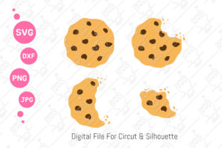 Print on Demand: Chocolate Chip Cookie Svg   Cookie Svg Graphic Illustrations By CRStocker