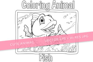 Print on Demand: Cute Fish Coloring Page Graphic Coloring Pages & Books Kids By SCWorkspace