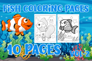 Cute Fish Coloring Pages for Kids Graphic Coloring Pages & Books Kids By Creative Color Desigen