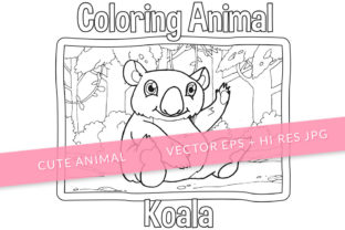 Print on Demand: Cute Koala Coloring Page Graphic Coloring Pages & Books Kids By SCWorkspace