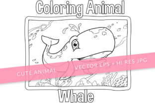 Print on Demand: Cute Whale Coloring Page Graphic Coloring Pages & Books Kids By SCWorkspace