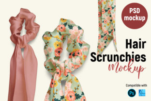 Hair Scrunchies   Product Mockup Graphic Product Mockups By Gumacreative 1