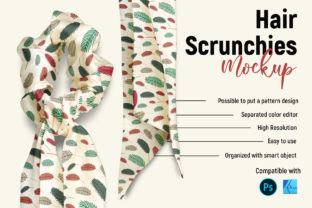 Hair Scrunchies   Product Mockup Graphic Product Mockups By Gumacreative 3